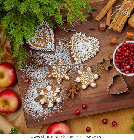 vue · anis · star · cannelle · table · en · bois - photo stock © dash