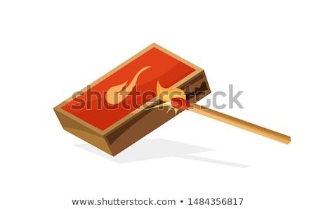 Yanan şenlik ateşi kömür karikatür vektör ikon Stok fotoğraf © robuart