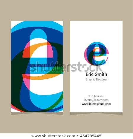 Lila citromsárga e betű logotípus logo szimbólum Stock fotó © blaskorizov