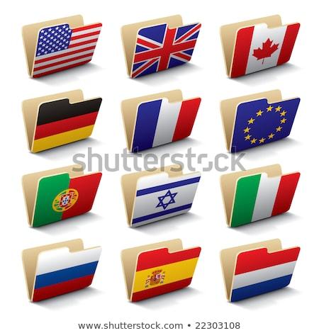 Mappa zászló európai szövetség akták izolált Stock fotó © MikhailMishchenko