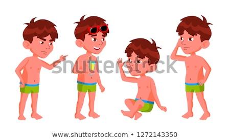 Garçon maternelle Kid vecteur vacances d'été Photo stock © pikepicture