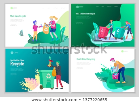 Stock photo: Green cleaning concept landing page.