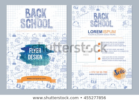 Back to School Posters Set Vector Illusrtration Stock photo © robuart