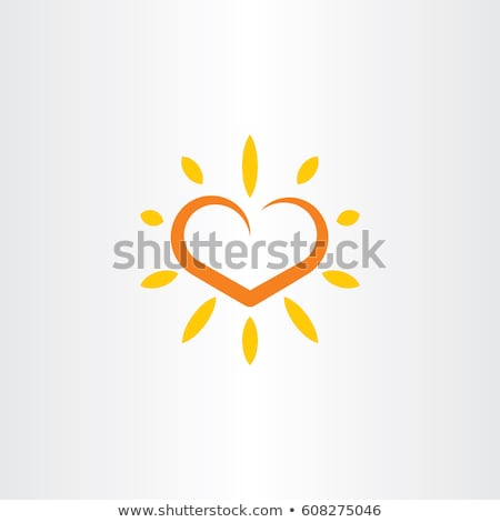 heart sun vector logo icon element stock photo © blaskorizov