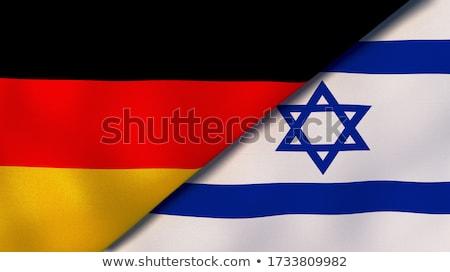 Dois bandeiras Alemanha Israel isolado Foto stock © MikhailMishchenko