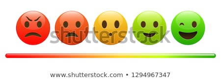 Mood meter, scale, from red angry face to happy green emoji Stock photo © MarySan