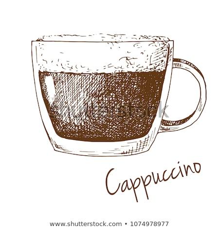 Boceto taza café espuma Foto stock © Arkadivna