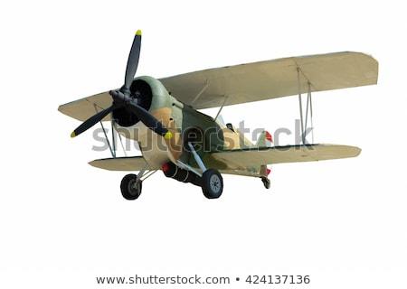 army airplane on white background stock photo © colematt