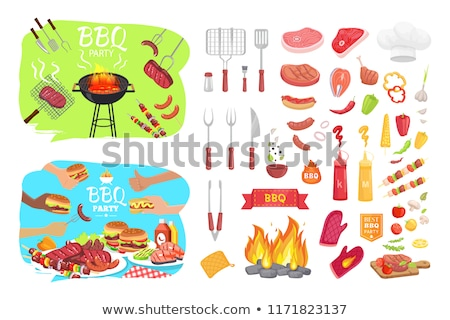 bbq fork with prongs barbecue vector illustration stock photo © robuart