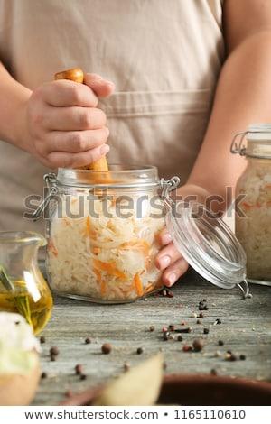 eigengemaakt · zuurkool · kool · selectieve · aandacht · voedsel · wortel - stockfoto © furmanphoto