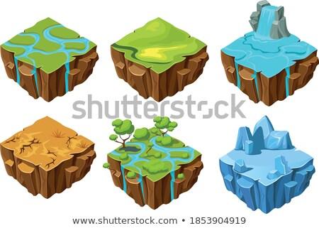 drogen · grond · nacht · illustratie · hemel · landschap - stockfoto © bluering
