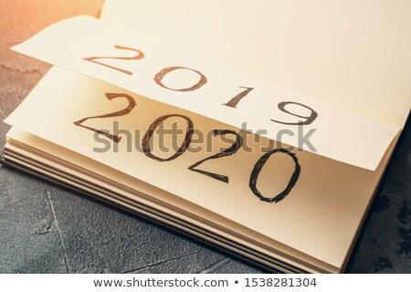múlt · új · év · renderelt · kép · 3d · illusztráció · üzlet · felirat - stock fotó © oakozhan