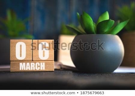 cubes calendar 6th march stock photo © oakozhan