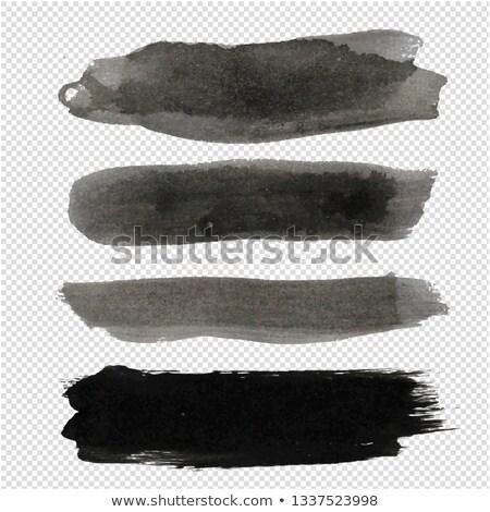 vettore · trasparente · set · inchiostro · abstract · vernice - foto d'archivio © cammep
