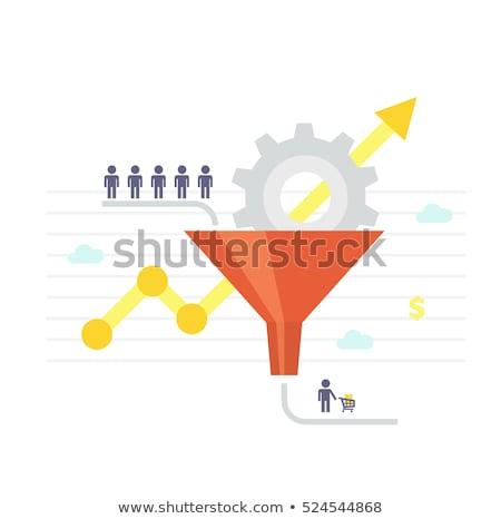 sociale · mensen · communicatie · procede · vector · business - stockfoto © jossdiim