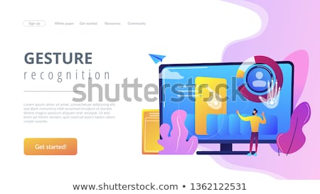Gesture recognition concept landing page. Stock photo © RAStudio
