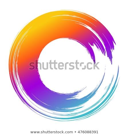 Renkli fırçalamak stil anlamaya örnek Stok fotoğraf © Blue_daemon