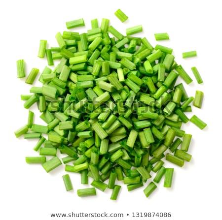 taze · kıyılmış · çanak · yeşil · yaprakları - stok fotoğraf © Digifoodstock