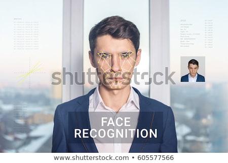 Reconocimiento cara tecnología azul futuro Foto stock © ra2studio