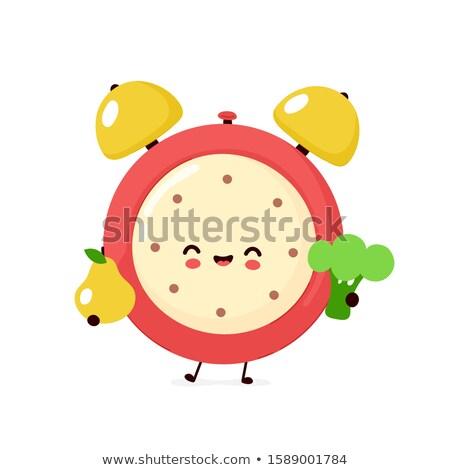 time timer and broccoli set vector illustration stock photo © robuart