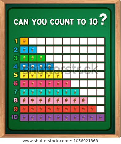 数学 · 番号 · 10 · 実例 · 空 · 草 - ストックフォト © colematt
