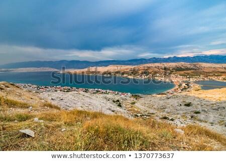 Scénique vue village île grand angle Photo stock © rafalstachura