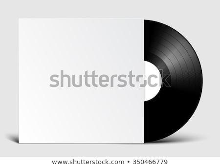 vektor · bakelit · lemez · borító · vázlat · fehér - stock fotó © trikona