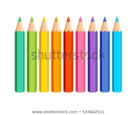 Colored pencils, crayons set, back to school  Stock photo © ukasz_hampel