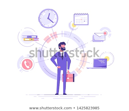 young male employee in the office in time management concept stock photo © elnur
