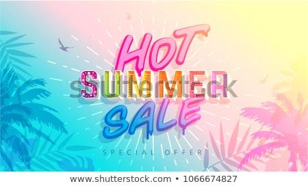 színes · szöveg · nyár · papír · felső · kilátás - stock fotó © furmanphoto