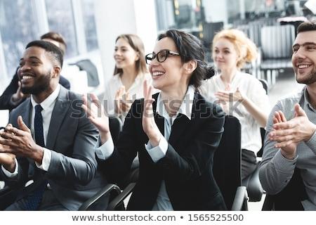 Tapsol közönség üzlet előadás ül szék Stock fotó © AndreyPopov