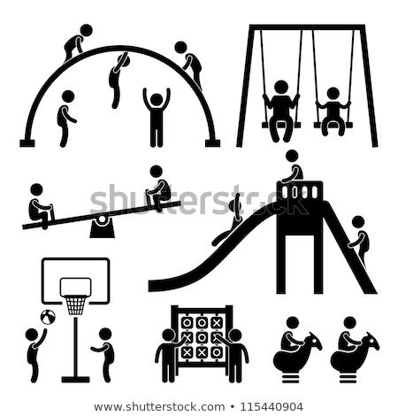 A set of monkey playing at playground Stock photo © colematt