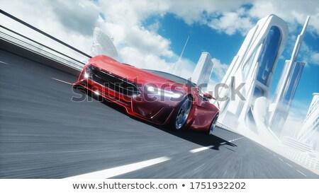 vector · stijl · illustratie · elektrische · auto · stad · vervoer - stockfoto © jossdiim