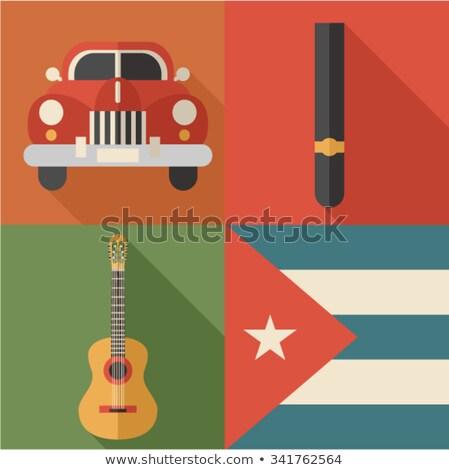 Cuba colorato icone eps 10 Foto d'archivio © netkov1