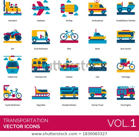 Canoe Vector Flat Icon Stock photo © smoki