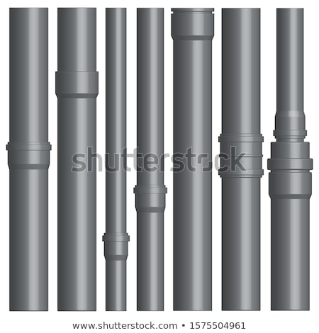 Set of various plastic pipes with connectors, vector illustration. stock photo © kup1984