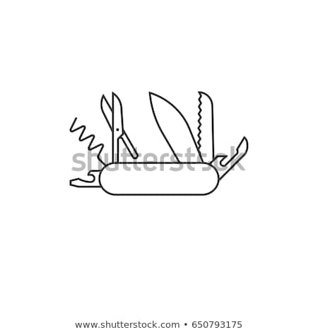 Stock photo: swiss army knife vector illustration