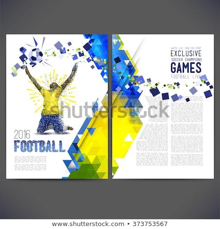 Frans voetballer sjabloon illustratie ontwerp kunst Stockfoto © colematt