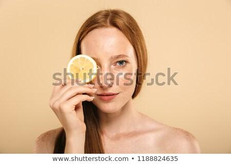 красоту портрет молодые без верха девушки Сток-фото © deandrobot