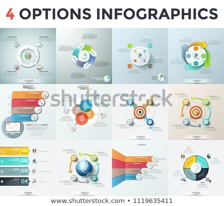 Colorato anello ciclo opzioni cento infografica Foto d'archivio © limbi007