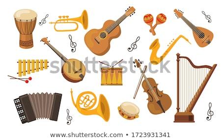 Instrumentos musicales establecer grande colección vector música Foto stock © netkov1