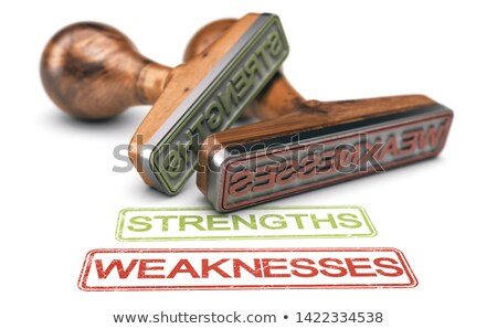 Strengths and Weaknesses Words And Two Rubber Stamps Over white  Stock photo © olivier_le_moal
