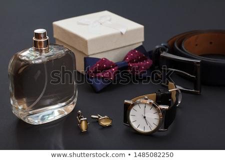 tie belt and cufflinks stock photo © restyler