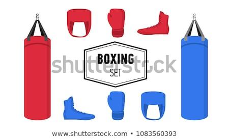 Rood · sport · zak · sportkleding · uitrusting · icon - stockfoto © marysan