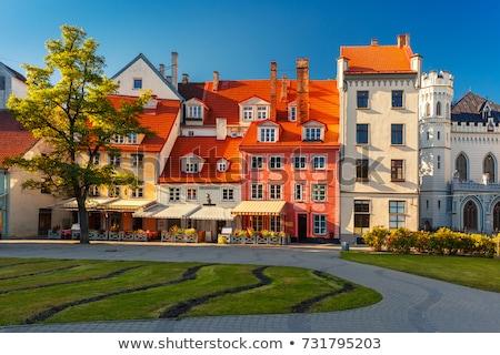 広場 旧市街 リガ 歴史的 住宅 ラトビア ストックフォト © borisb17