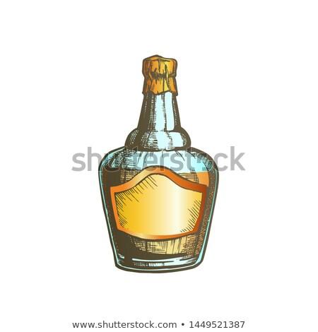Couleur whisky bouteille cap vecteur simple Photo stock © pikepicture