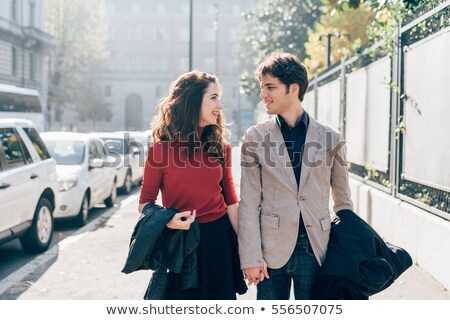 How Have Happy Relationships, Couple Walk Together Stock photo © robuart