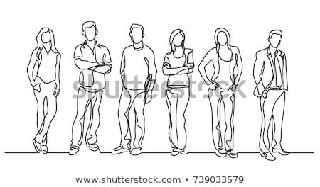 グループ 男性 立って 行 多様 ストックフォト © dolgachov