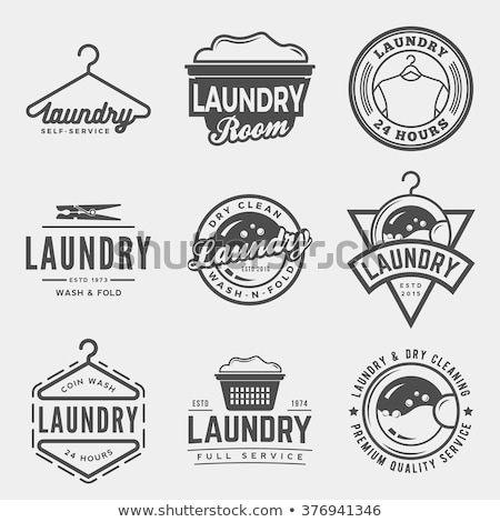 vintage laundry emblems stock photo © netkov1