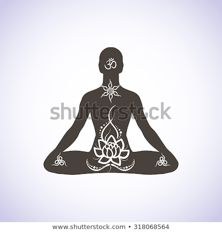 Vintage yoga emblems Stock photo © netkov1